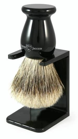 Edwin Jagger Best Badger Shaving Brush with drip stand