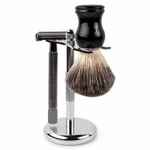 shaving brush and razor stand