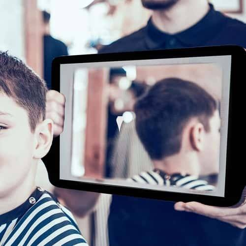 hairdressing mirror