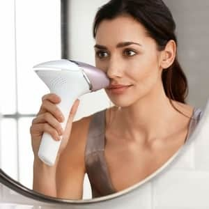 Philips Lumea used on the face for hair removal