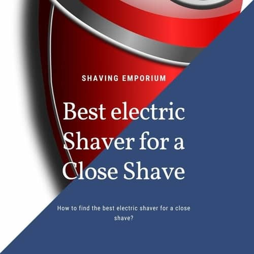 electric razor for a close shave